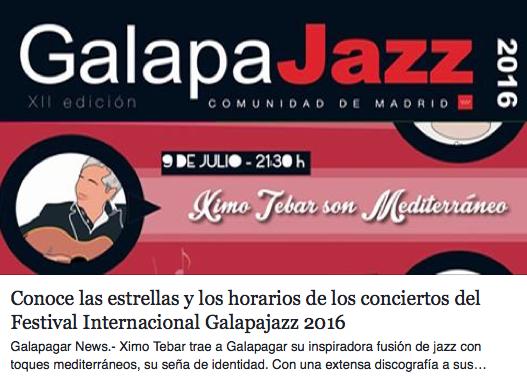 Ximo Tebar Galapajazz 2016