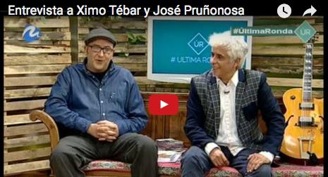 Entrevista TV Mediterráneo Ximo Tébar y José Pruñonosa presentando el libro Ximo Tébar La guitarra del Jazz Mediterráneo