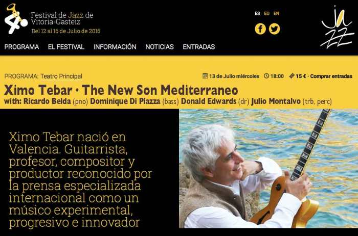 40-VITORIA-JAZZ-FESTIVAL-2016-XIMO-TEBAR-SOLEO-THE-NEW-SON-MEDITERRANEO