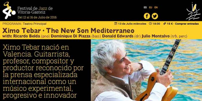 FLYER-40-VITORIA-JAZZ-FESTIVAL-2016-XIMO-TEBAR-SOLEO-THE-NEW-SON-MEDITERRANEO