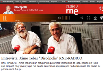 ESCUCHAR ENTREVISTA https://ximotebar.net/2016/11/19/entrevista-ximo-tebar-discopolis-rne-radio-3-17-noviembre-2016/