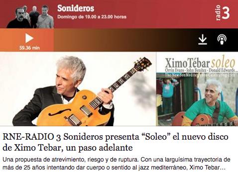 rne-radio-3-sonideros-ximo-tebar-jazz-soleo