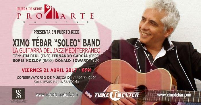 FLYER-XIMO-TEBAR-JAZZ-PRO-ARTE-MUSICAL-PUERTO-RICO-ABRIL-2017