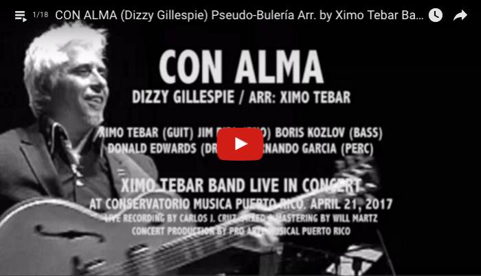 CON ALMA DIZZY GILLESPIE PSEUDO BULERIA BY XIMO TEBAR BAND LIVE IN PUERTO RICO