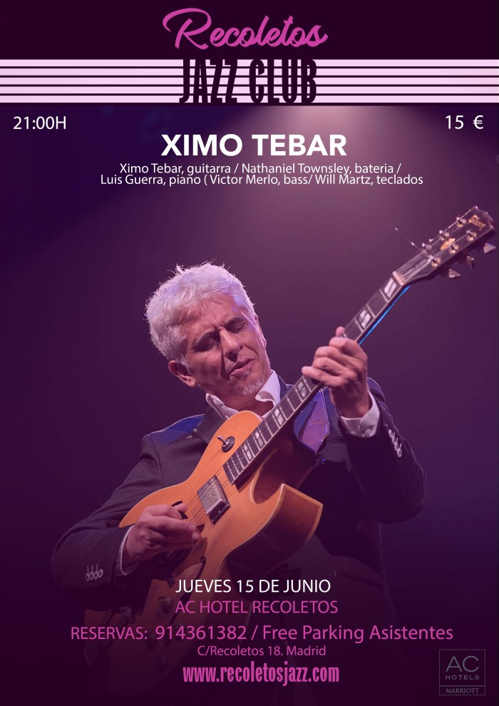 RECOLETOS JAZZ XIMO TEBAR JUNIO 2017