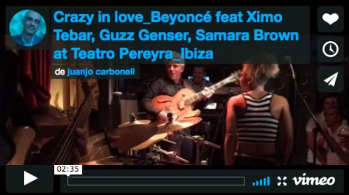 Crazy in love_Beyoncé feat Ximo Tebar, Guzz Genser, Samara Brown at Teatro Pereyra_Ibiza