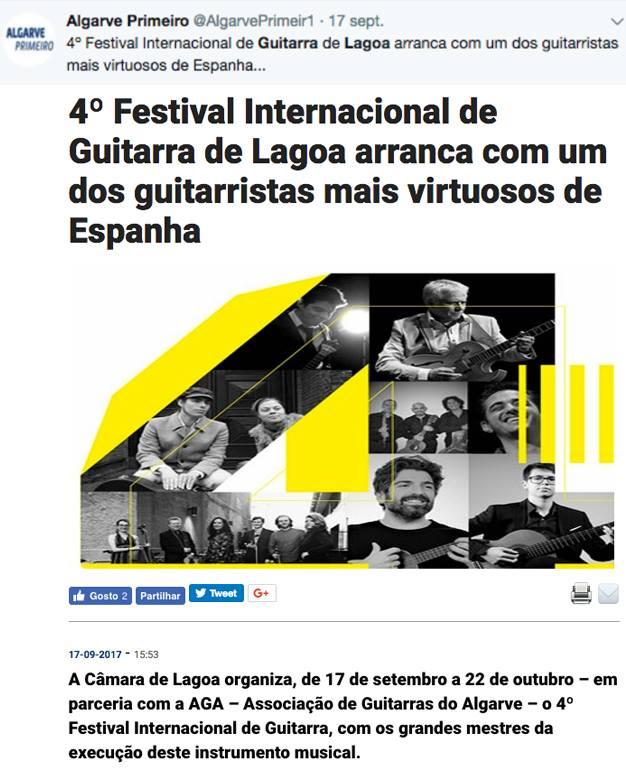 XIMO TEBAR LAGOA GUITAR FESTIVAL 2017