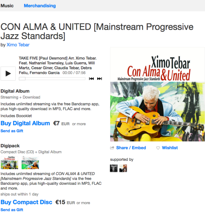 XIMO TEBAR CD CON ALMA & UNITED BANDCAMP