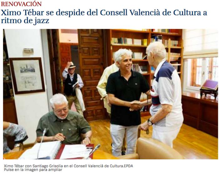 Ximo Tebar con Santiago Grisolia en el Consell Valencia de Cultura