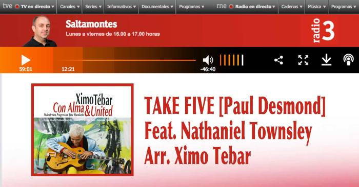 XIMO-TEBAR-JAZZ-TAKE-FIVE-PAUL-DESMOND-FEAT-NATHANIEL-TOWNSLEY-RNE-RADIO-3-SALTAMONTES-JULY-2018