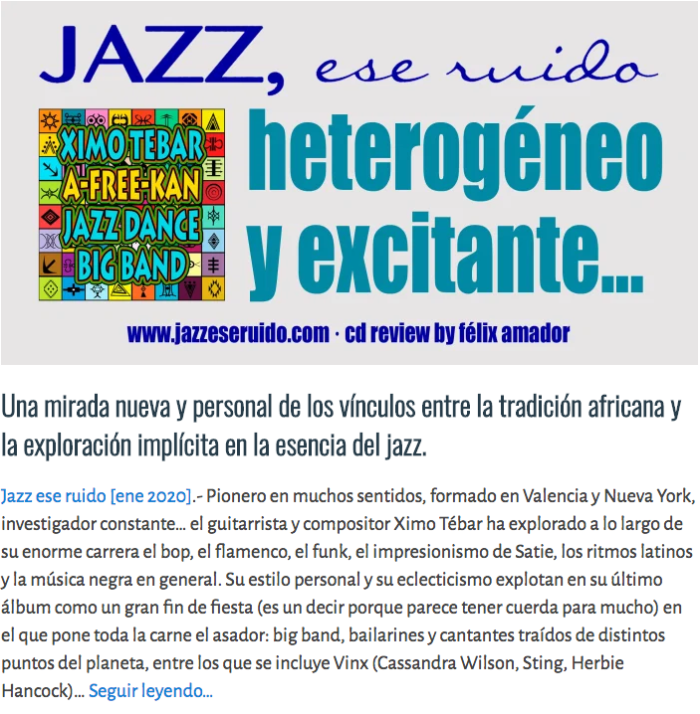 XIMO-TEBAR-AFREEKAN-JAZZ-ESE-RUIDO-REVIEW-ENE-2020-REVIEW