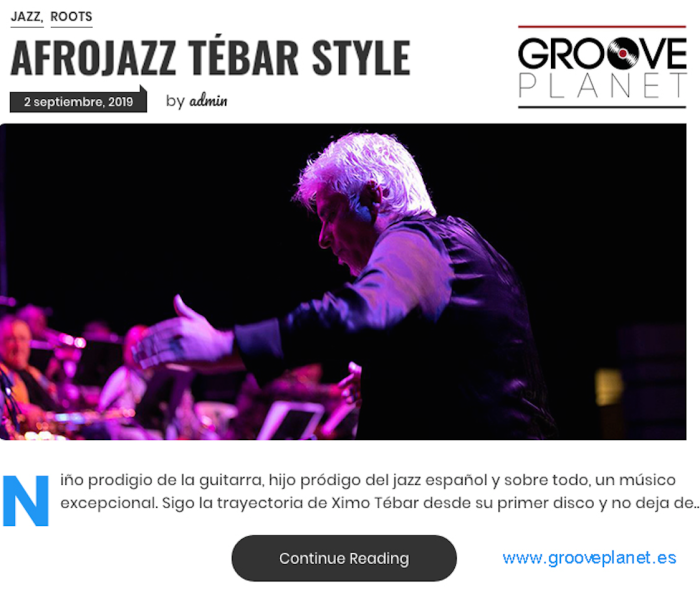 XIMO TEBAR AFRICA JAZZ ROOTS GROOVE PLANET 2019 REVIEW