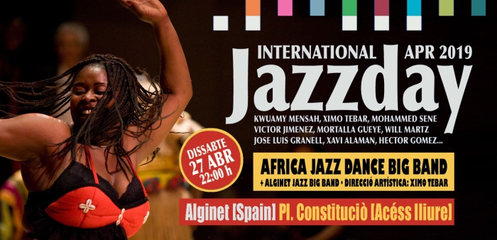 JAZZ-DAY-2019-ALGINET-JAZZDAY-XIMO-TEBAR-AFRICA-JAZZ-DANCE-BIG-BAND-ALGINET-JAZZ-BIG-BAND-FLYER-YOUTUBE