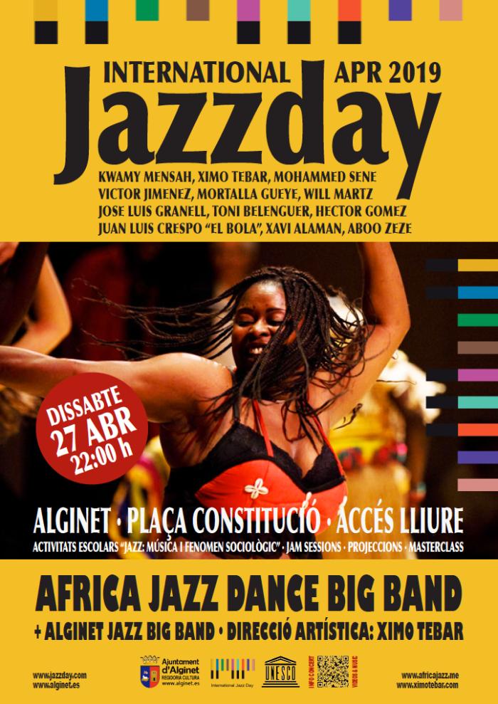 JAZZ DAY 2019 ALGINET XIMO TEBAR AFRICA JAZZ DANCE BIG BAND CARTEL