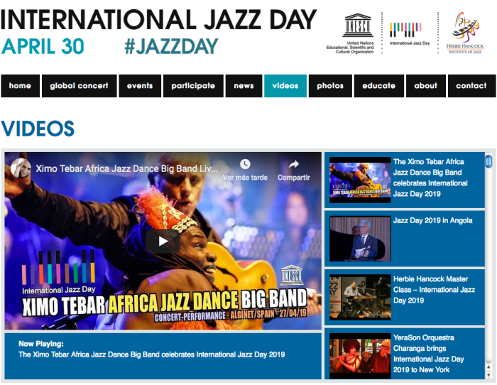 INTERNATIONAL JAZZ DAY XIMO TEBAR AFRICA JAZZ DANCE BIG BAND ALGINET SPAIN APR 2019