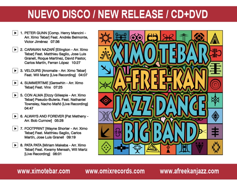 XIMO-TEBAR-CD A-FREE-KAN JAZZ DANCE BIG BAND AFREEKAN AFRICA