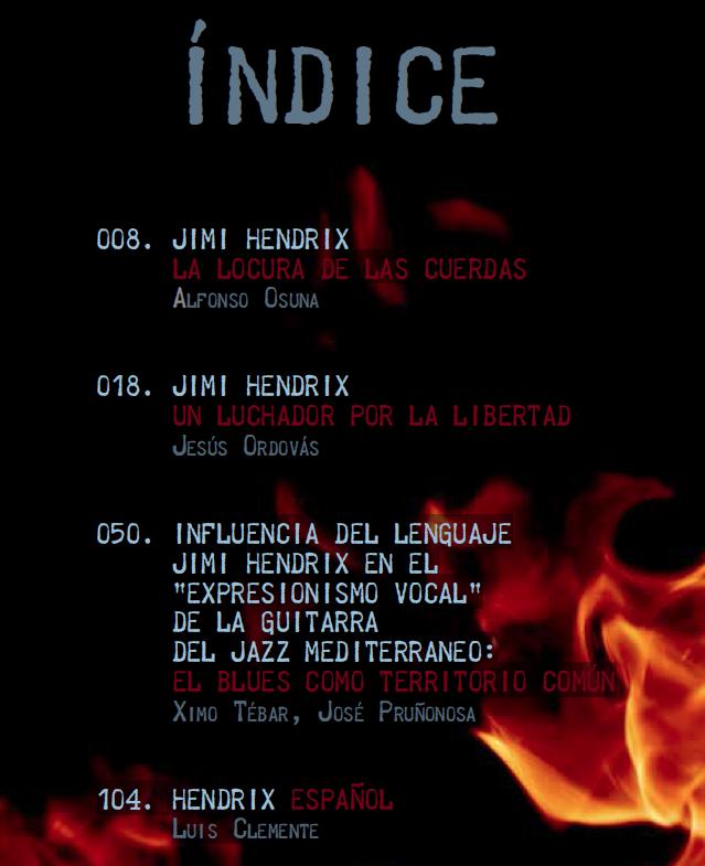 INDICE LIBRO-JIMI-HENDRIX--LA-LOCURA-DE-LAS-CUERDAS--Jesús-Ordovás,-Ximo-Tébar,-José-Pruñonosa,-Luis-Clemente,-Alfonso-Osuna