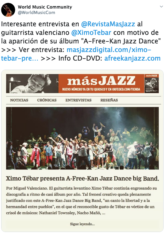 XIMO-TEBAR-PRESENTA-A-FREE-KAN-JAZZ-DANCE-BIG-BAND-MAS-JAZZ-REVISTA-DEC-2019-INTERVIEW-WORLD-MUSIC